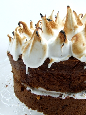 Sweet Potato Cake with Toasted Marshmallow