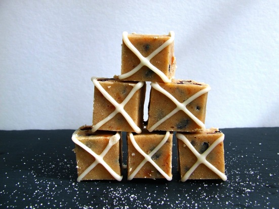 Hot Cross bun fudge 3