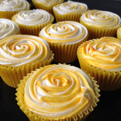 Lemon Rose Cupcakes side view