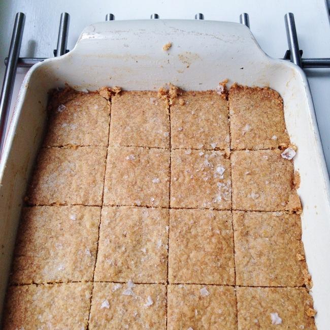 Salted Cardamon Rye Shortbread