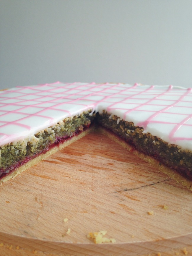 Inside of tart showing layers