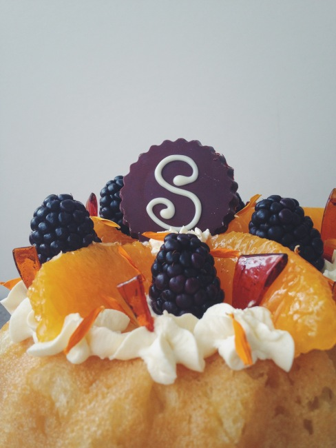Savarin with Chantilly Cream: Great British Bake Off Week close up of fruit and caramel shards