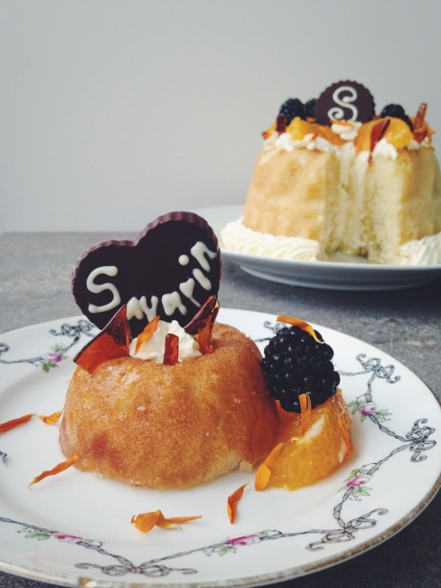 Savarin with Chantilly Cream: Great British Bake Off Week mini and large together