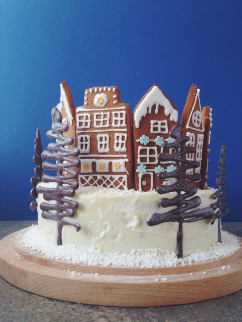 Christmas Gingerbread Forest Cake