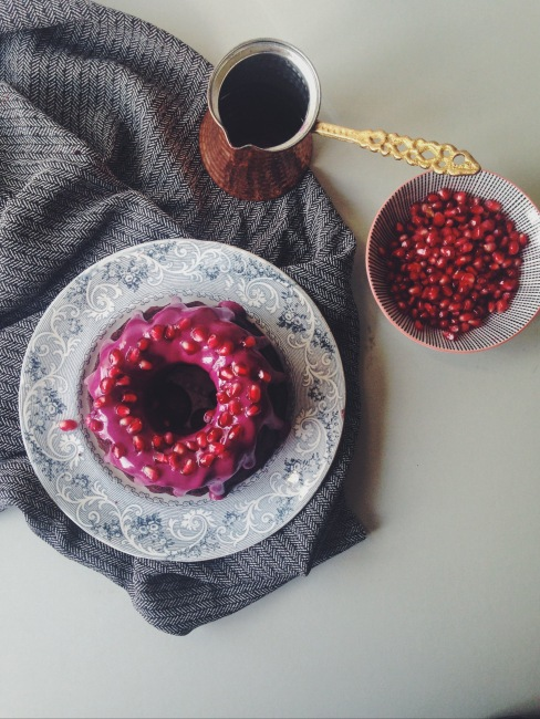 Gluten-Free Chocolate Beetroot Bundt with Hibiscus Glaze