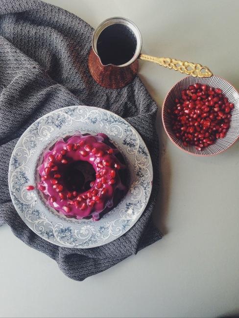 Gluten-Free Chocolate Beetroot Bundt with Hibiscus Glaze