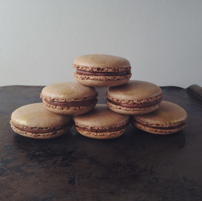 Nut-free Macarons with Earl Grey Infused Chocolate Buttercream