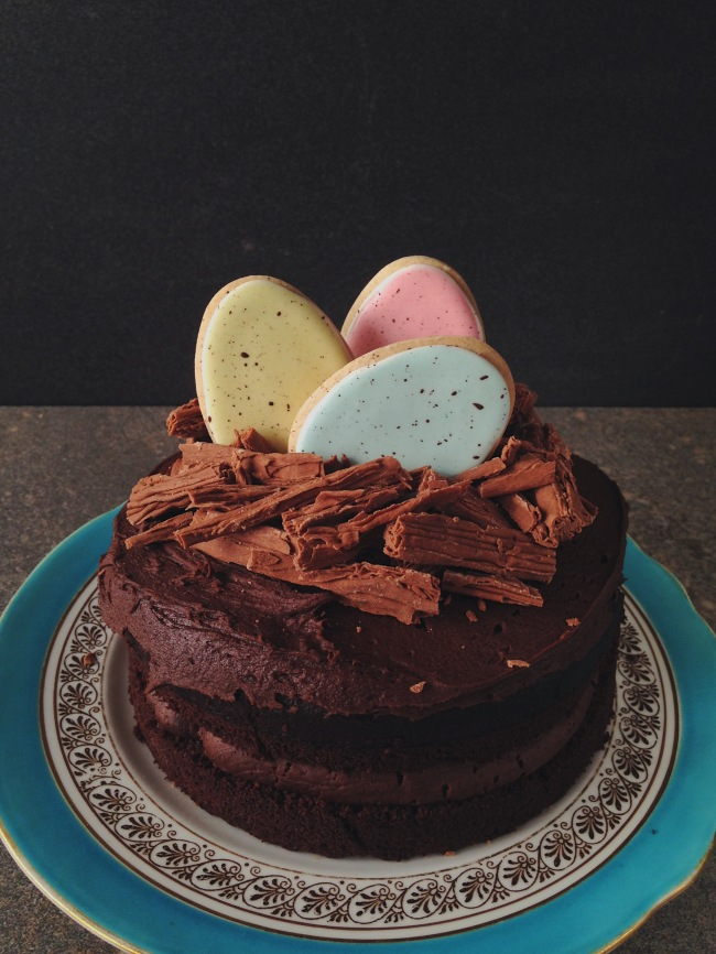 Speckled Egg Chocolate Cake
