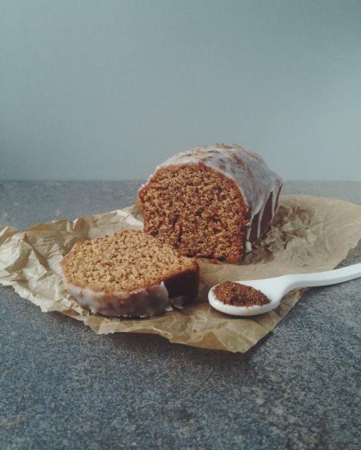 Garam Masala Loaf Cake with Yogurt Glaze