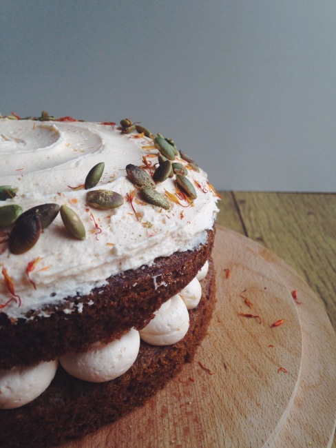 Floral Carrot Cake with Orange Buttercream