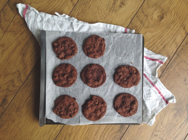Rye, Raisin and Chocolate Cookies