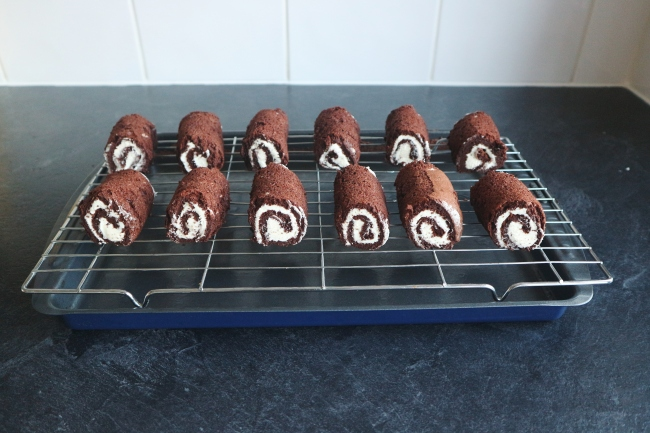 Great British Bake Off Technical Challenge Week 1: Chocolate Mini Rolls