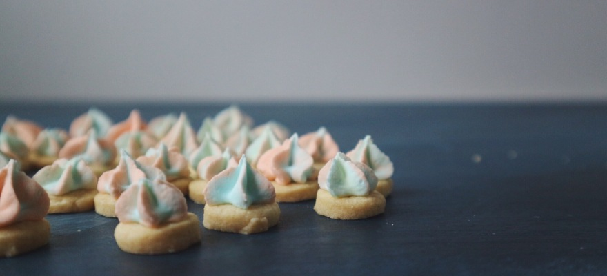Vegan Iced Gem Biscuits made with Aquafaba