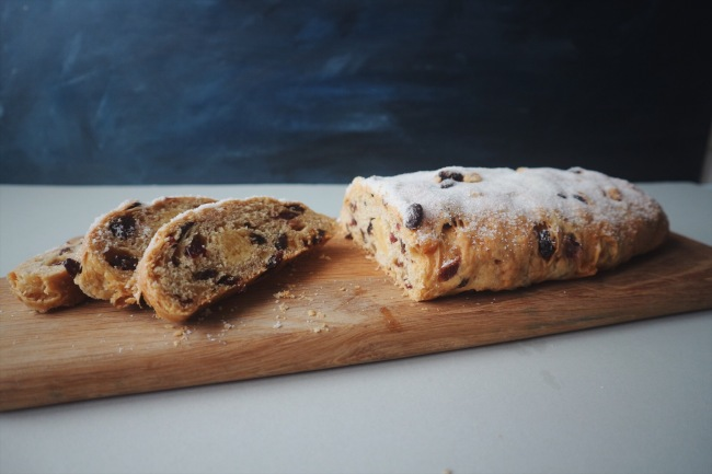 Christmas Stollen with Nut-free Mahleb Marzipan